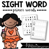 Sight Word Builders {primer words}