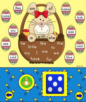 Sight Word Bunny Smart Board