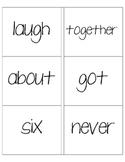 Sight Word Cards - Second Grade