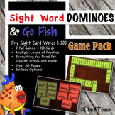 Sight Word Dominoes & Go Fish Game Pack