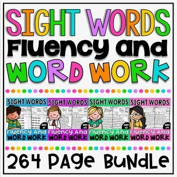 Sight Word NO PREP Fluency and Word Work (A Growing Bundle)