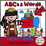 Pirate Game: Letters AND Sight Words - Tricky Pirates! (CCSS}