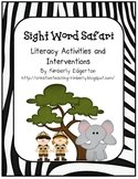 Sight Word Literacy Activities and Interventions
