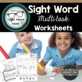 Sight Word Multi-task Workbook/Worksheets