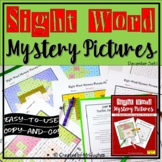 Sight Word Mystery Pictures - December Set 1