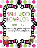 Sight Word Pack (week 1 & 2)