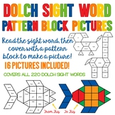 Sight Word Pattern Block Pictures - Contains All 220 Sight