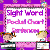 Sight Word Pocket Chart Sentences Activities, {K-2} ~Commo