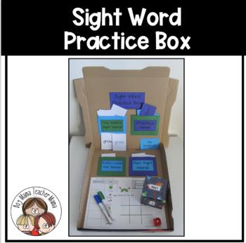 Sight Word Practice Box Templates