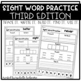 Sight Word Practice THIRD (Trace it. Write it. Build it. F