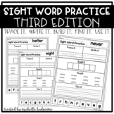 Sight Word Practice THIRD (Trace it. Write it. Build it. F