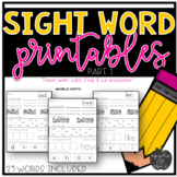 Sight Word Practice for Kindergarten