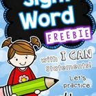Sight Word Printable for Pre-K and Kindergarten - FREEBIE!
