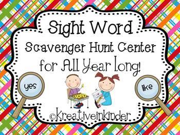 Sight Word Scavenger Hunt Center *Editable* for ALL YEAR!