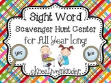 Sight Word Scavenger Hunt Center *Editable* for ALL YEAR!