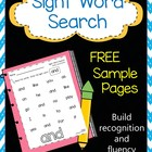 Sight Word Search - Sample Page