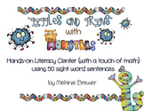 Sight Word Sentence Literacy and Math Center Activity