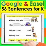 Sight Word Sentences for Google Slides