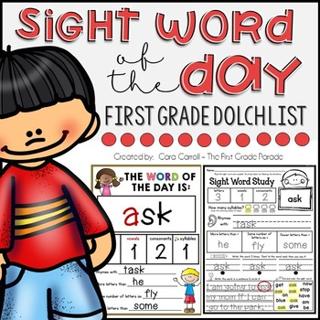 Sight Word Study Intervention - FIRST GRADE