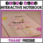 Sight Words First Grade List Set 11 (thank) Interactive No