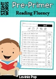 Sight Word Fluency Phrases for Homework (Pre-Primer Words)