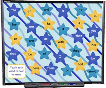 Sight Words SMART BOARD Game