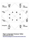 Sign Language Fortune Teller