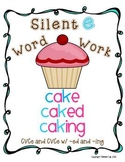 Silent E Word Work - Foldable Flash Cards & Games