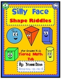 Silly Face Shape Riddles Tiered Math Tub