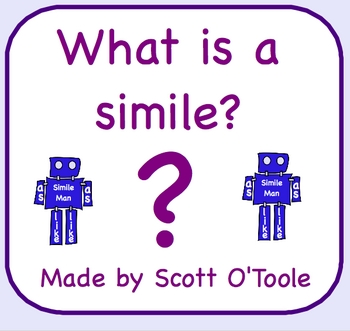 Simile Smartboard Lesson - Figurative Language Smartboard Lesson