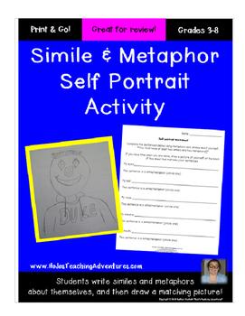 Simile and Metaphor Self-Portrait