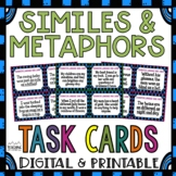 Simile and Metaphor Task Cards Figurative Language Common