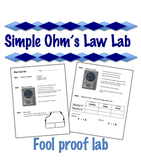 Simple Ohm's Law Lab   - Electricity  -  V=IR