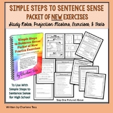 Simple Steps to Sentence Sense Packet of  New Practice Exercises