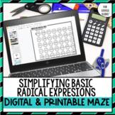 Simplifying Radical Expressions: Maze
