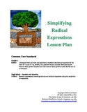 Simplifying Radical (Square Root) Expressions Lesson Plan