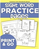 Sing to Learn Sight Words Practice Pages