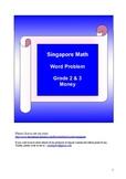 Singapore Math - Grade 2 and 3 Money (1)