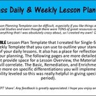 Single Subject Daily and Weekly Lesson Plan Template *Non-