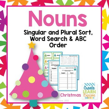 Singular and Plural Noun Sort: Christmas