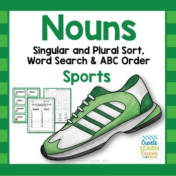 Singular and Plural Noun Sort: Sports
