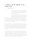 """Sinners in the Hands of an Angry God"" text and questions"