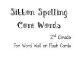 Sitton Spelling Core Word List for 2nd Grade - B&W