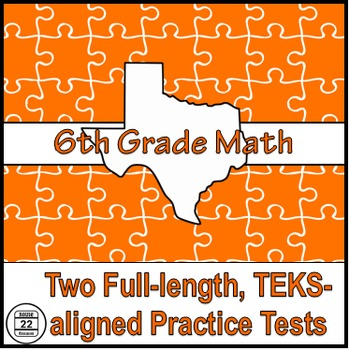 6th Grade Math STAAR and TEKS-aligned Practice Test