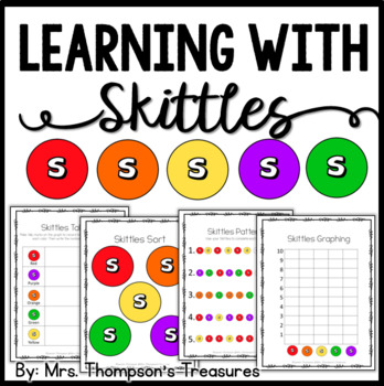 Skittles Candy Fun Activity Pack {Graphing, Sorting, Patterns & More}