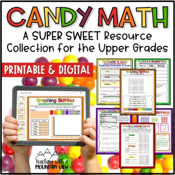 Skittles Math Printables for the Upper Grades *17 Pages of Activities*