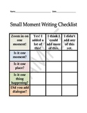 Small Moment Student Checklist English