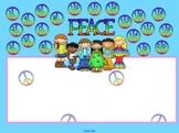 Smartboard Attendance File - Peace theme
