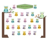 Smartboard Attendance - Owl Theme