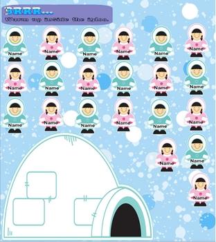 Smartboard Attendance -Winter Theme